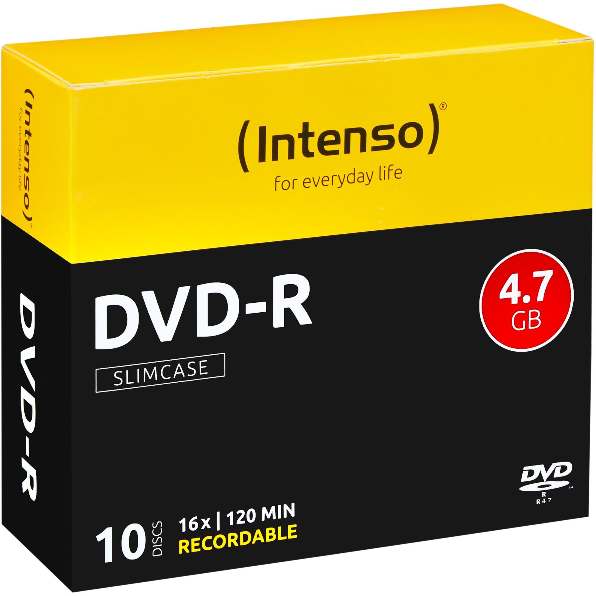 DVD-R 4.7GB, 16x 4.7Go DVD-R 10pièce(s), Support vierge DVD