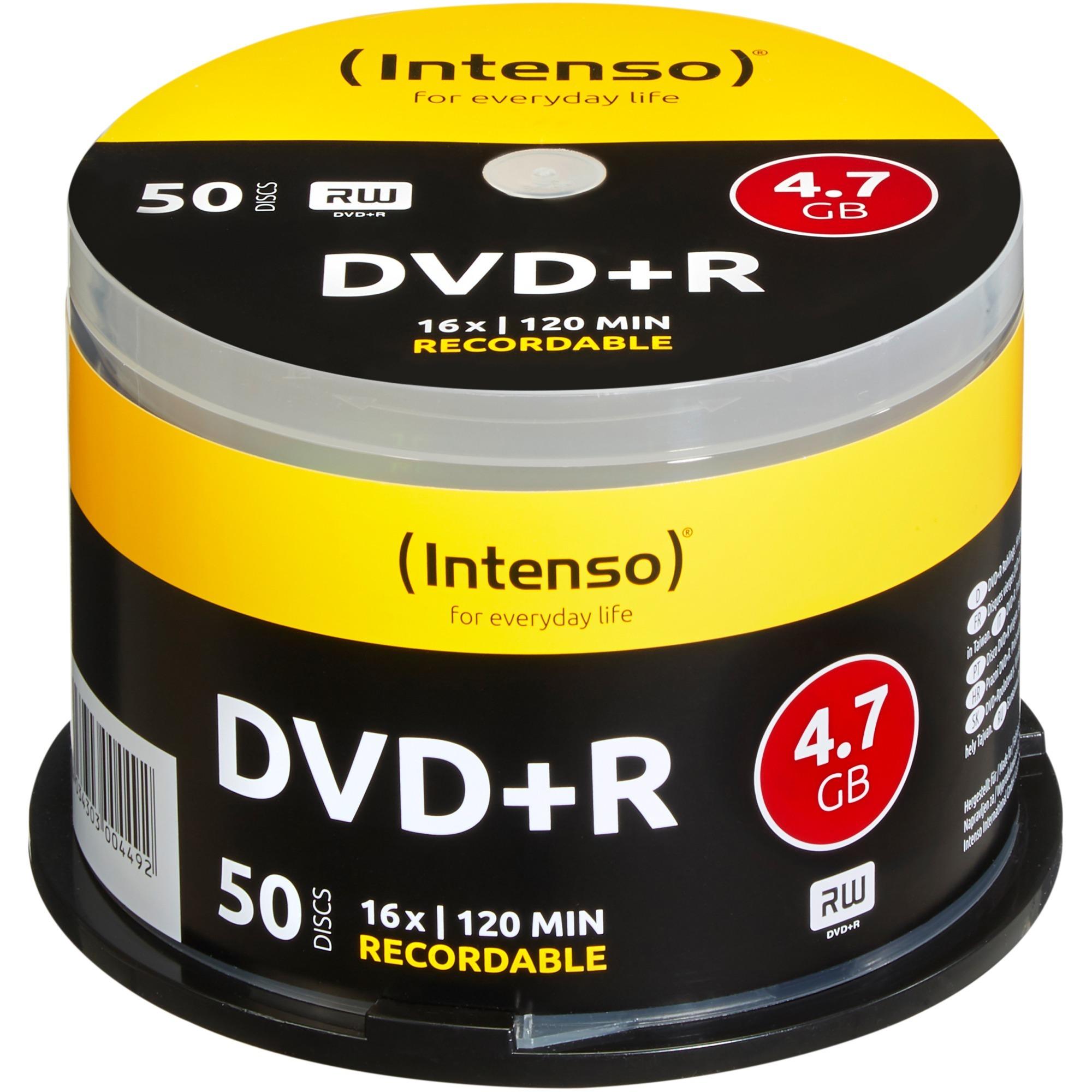 DVD+R 4.7GB, 16x 4.7Go DVD+R 50pièce(s), Support vierge DVD
