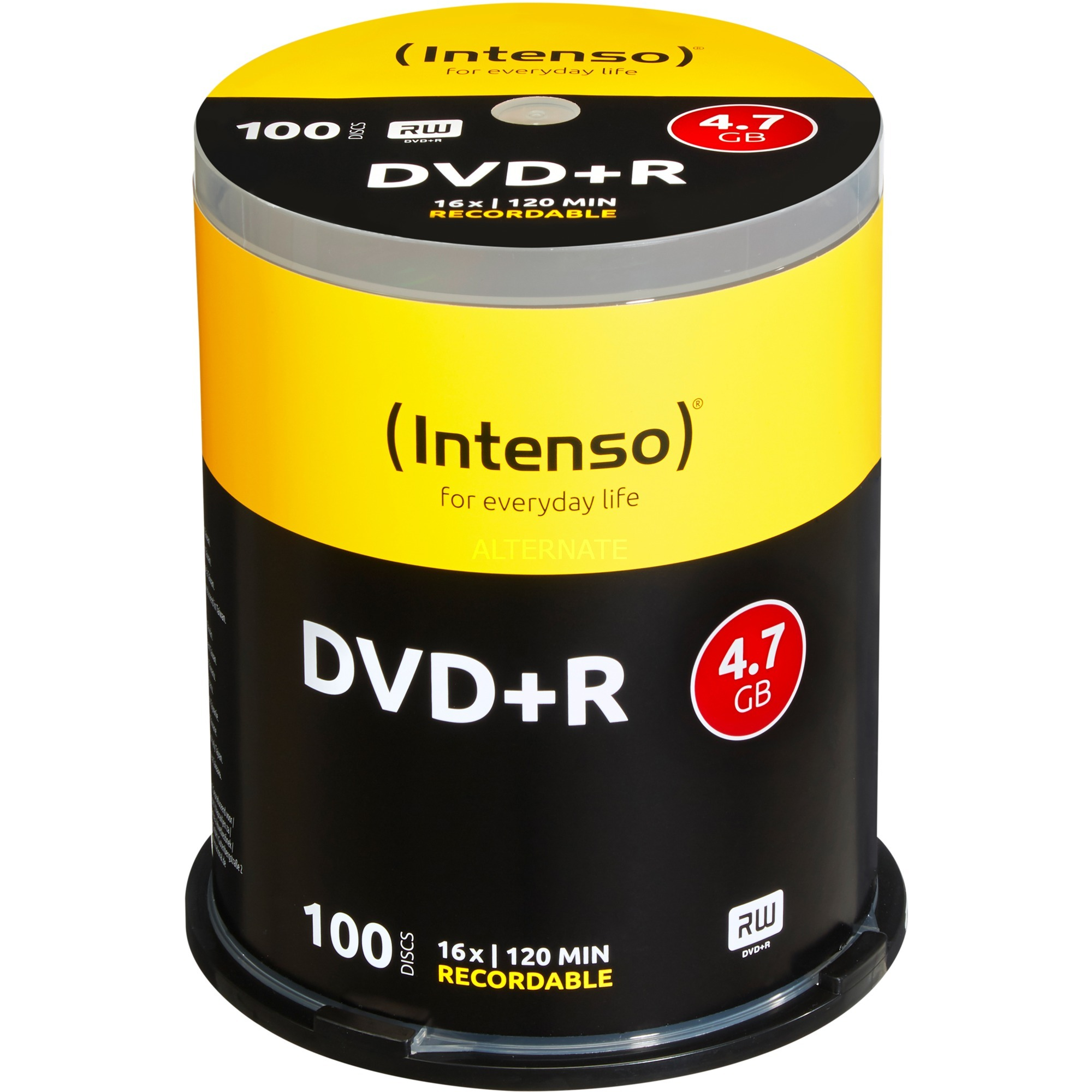 DVD+R 4,7 GB 16x 4.7Go DVD+R 100pièce(s), Support vierge DVD