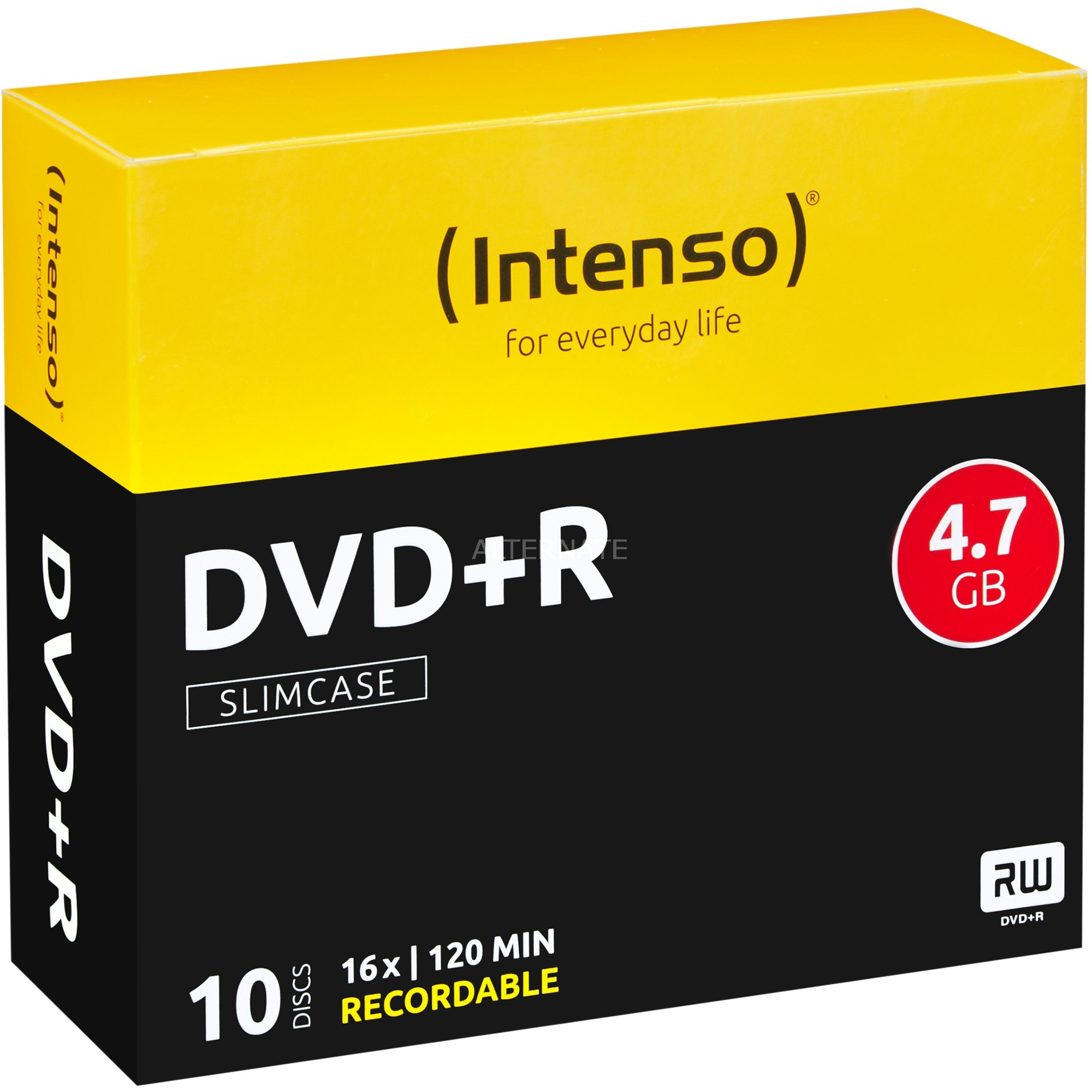 DVD+R 4,7 Go, Support vierge DVD