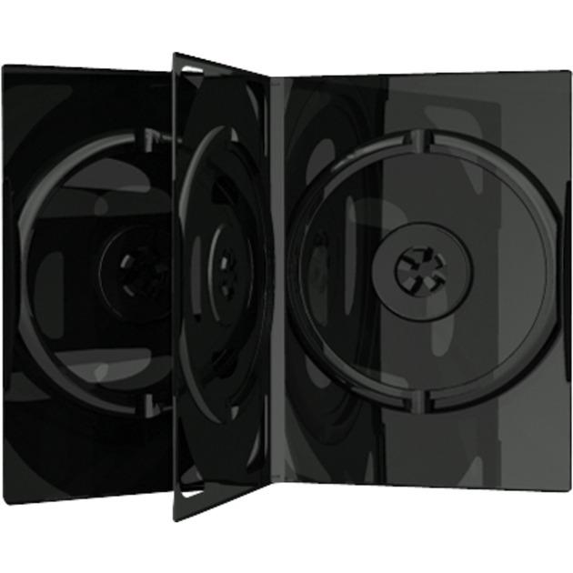 BOX15 Boîtier DVD 3disques Noir étui disque optique, Étui de protection