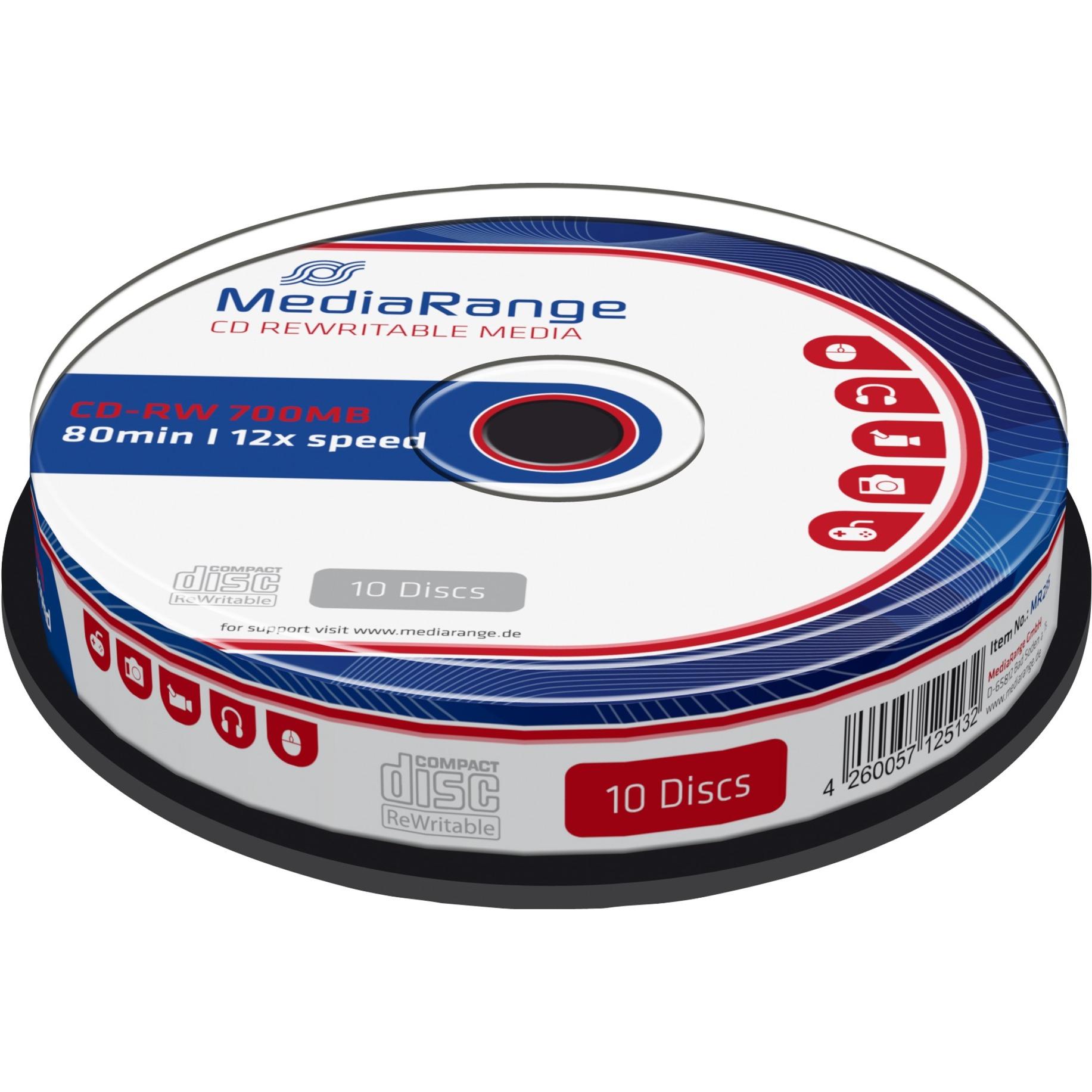 MR235 CD-RW 700Mo 10pièce(s) CD vierge