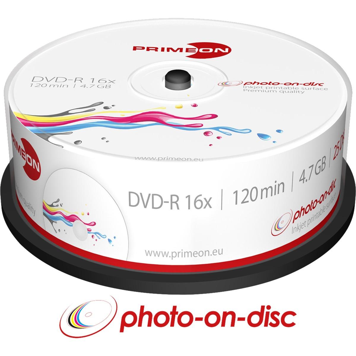 2761205 4.7Go DVD-R 25pièce(s) DVD vierge, Support vierge DVD