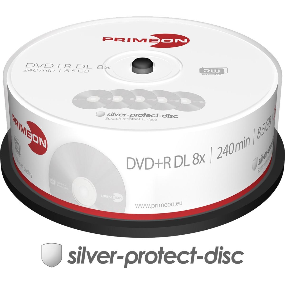 2761251 8.5Go DVD+R DL 25pièce(s) DVD vierge, Support vierge DVD
