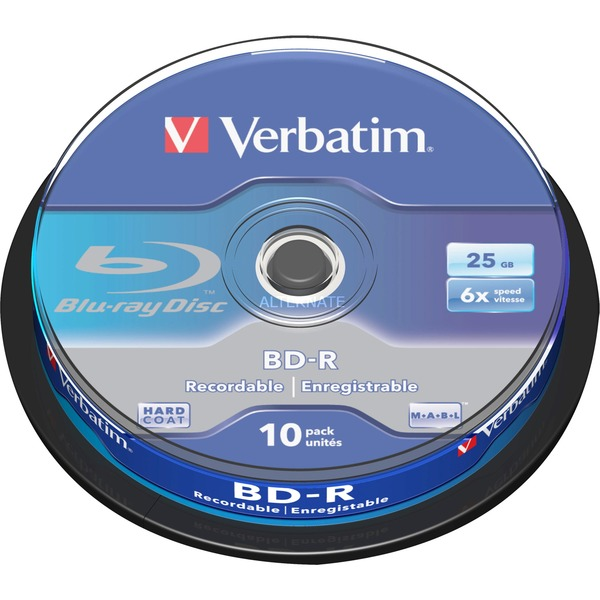 BD-R SL 25GB 6 x 10 Pack Spindle BD-R 25Go 10pièce(s), Disques Blu-ray