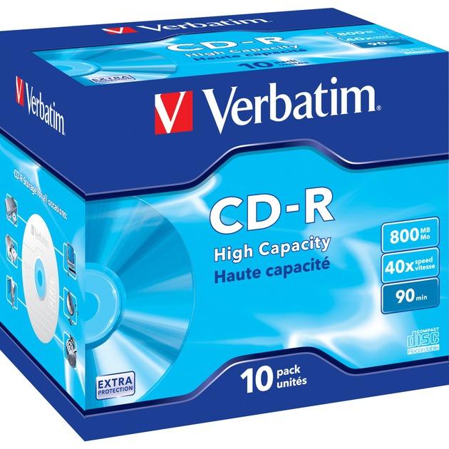 CD-R High Capacity CD-R 800Mo 10pièce(s)
