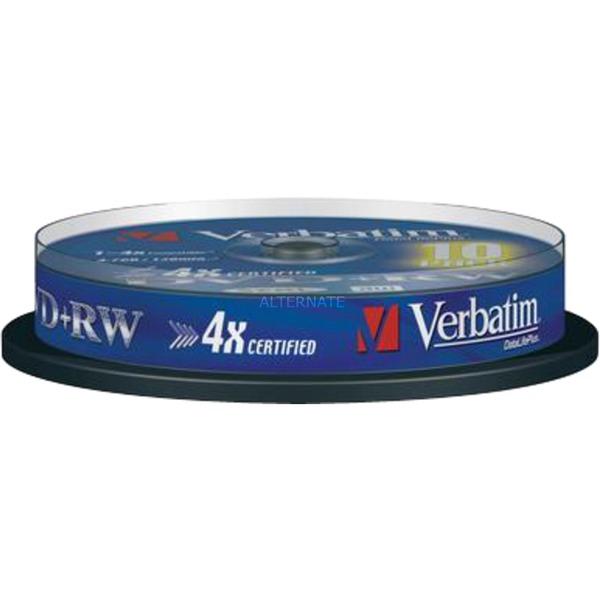DVD+RW 4,7 Go, Support vierge DVD