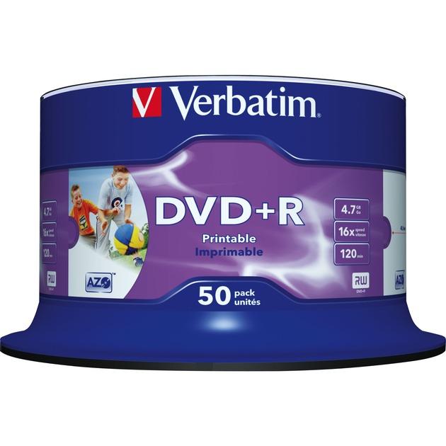 DVD+R 4,7Go Imprimable par jet d'encre - Sans marque, Support vierge DVD
