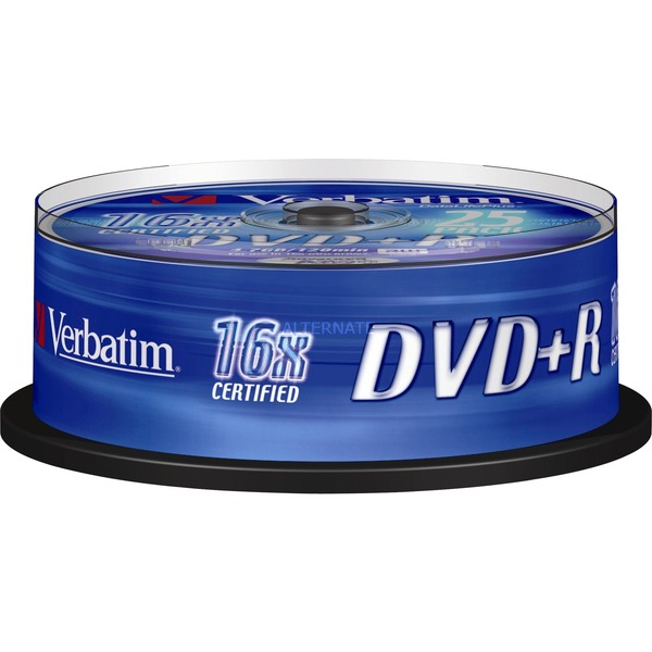 DVD+R 4,7 Go Matt Silver, Support vierge DVD
