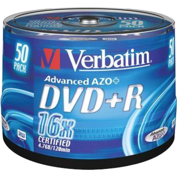 DVD+R 4,7 Go, Support vierge DVD