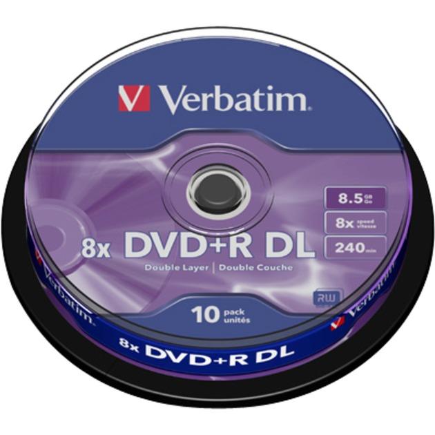 DVD+R DL 8,5 Go, Support vierge DVD