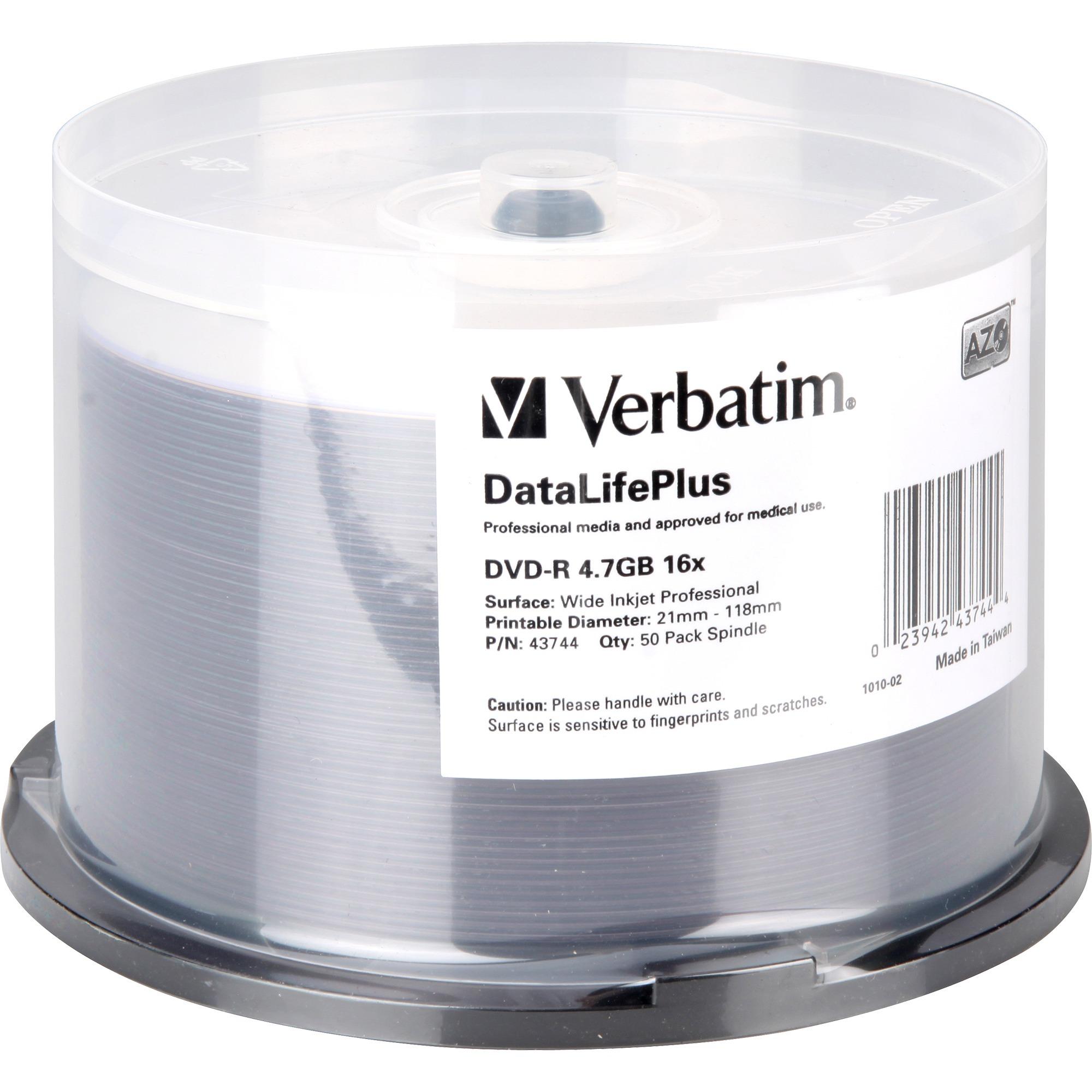 DataLifePlus 4.7Go DVD-R 50pièce(s), Support vierge DVD