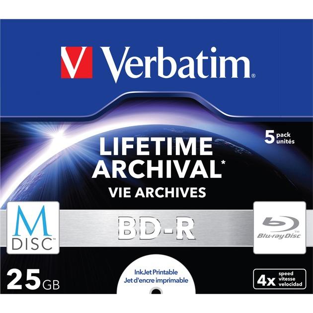 M-Disc 4x BD-R 25Go 5pièce(s), Disques Blu-ray