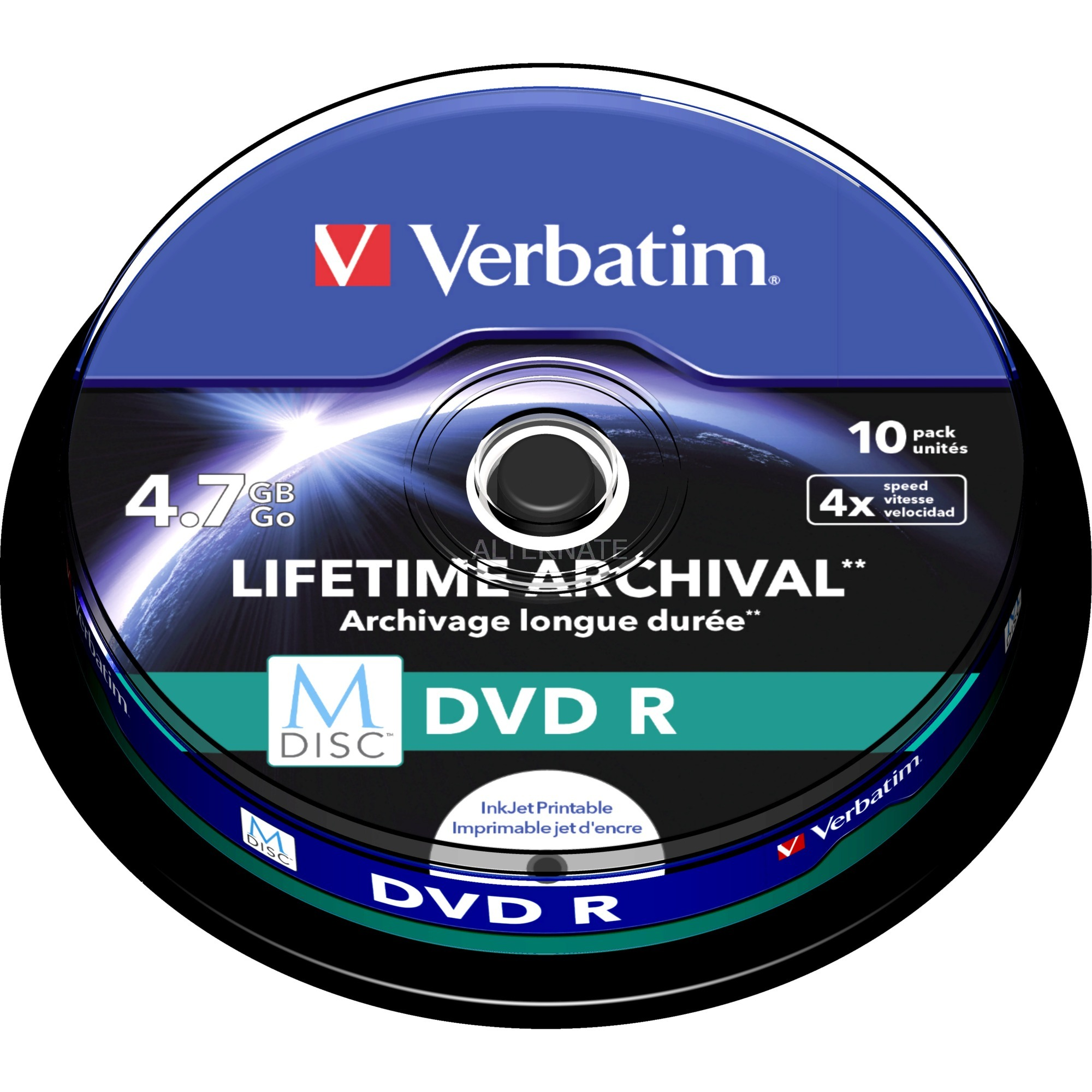 M-Disc DVD R 4.7Go 10pièce(s), Support vierge DVD