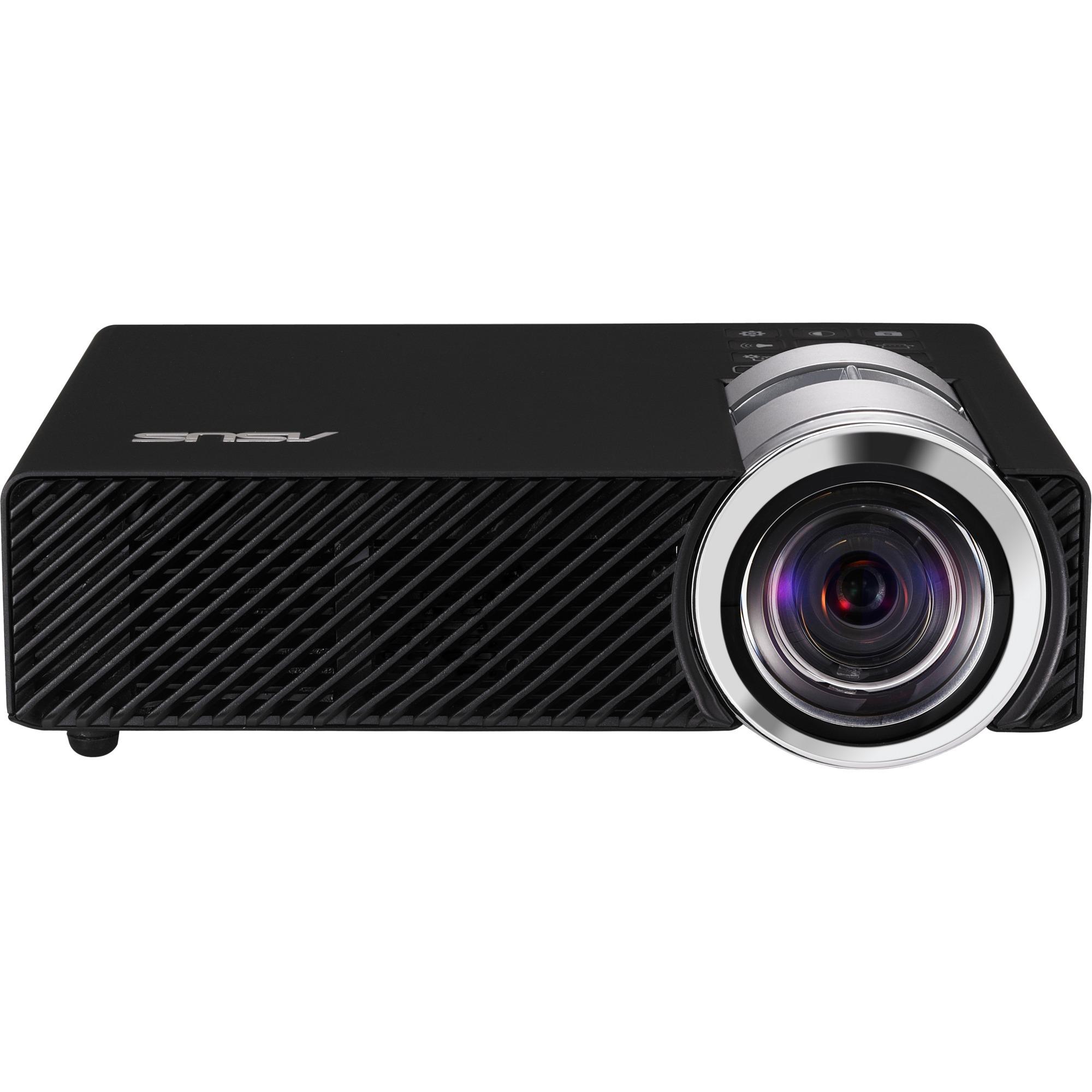 B1MR Projecteur de bureau 900ANSI lumens LED WXGA (1280x800) Compatibilité 3D Noir vidéo-projecteur, Projecteur à LED