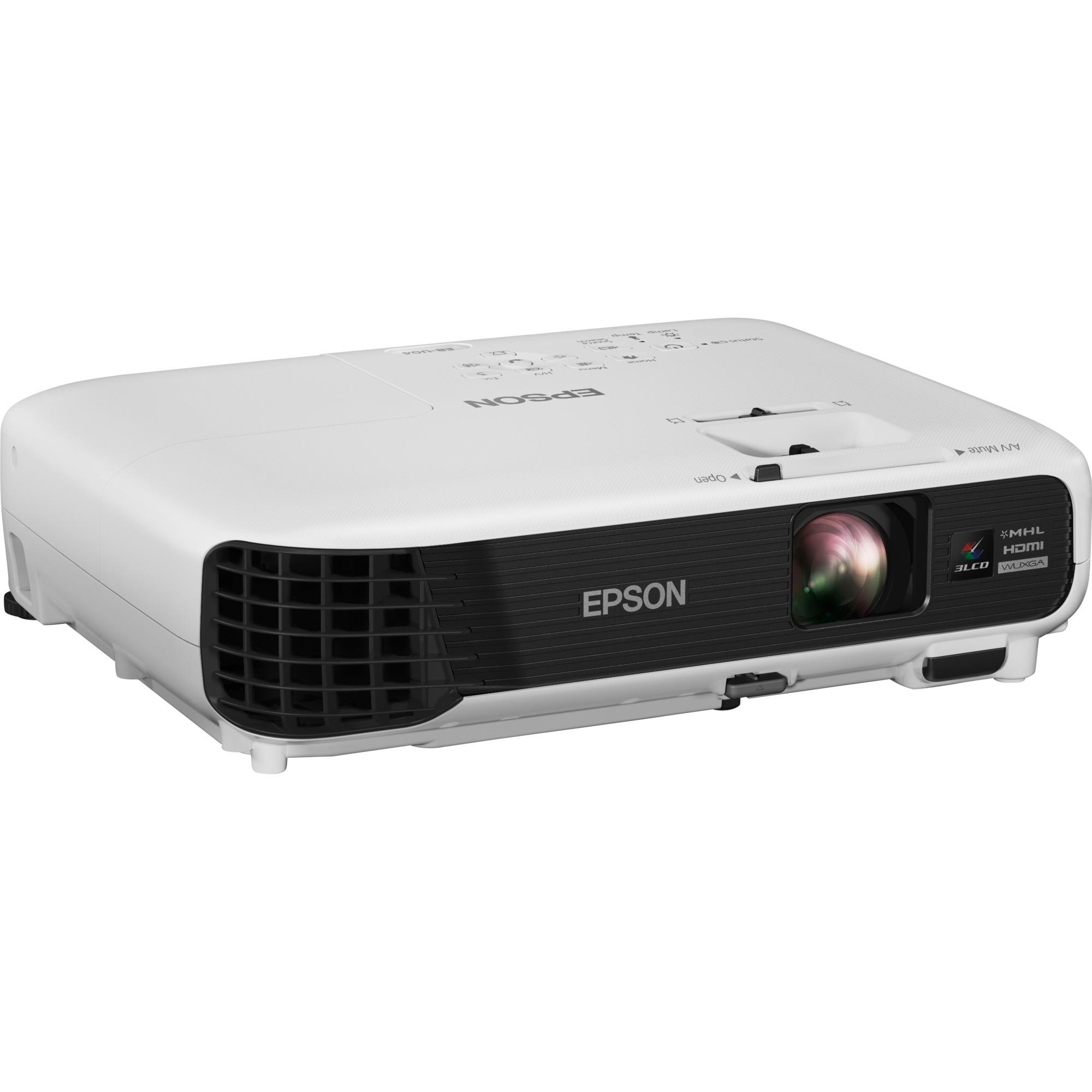 EB-U04 Vidéoprojecteur portable 3000ANSI lumens 3LCD WUXGA (1920x1200) Blanc vidéo-projecteur, Projecteur LCD