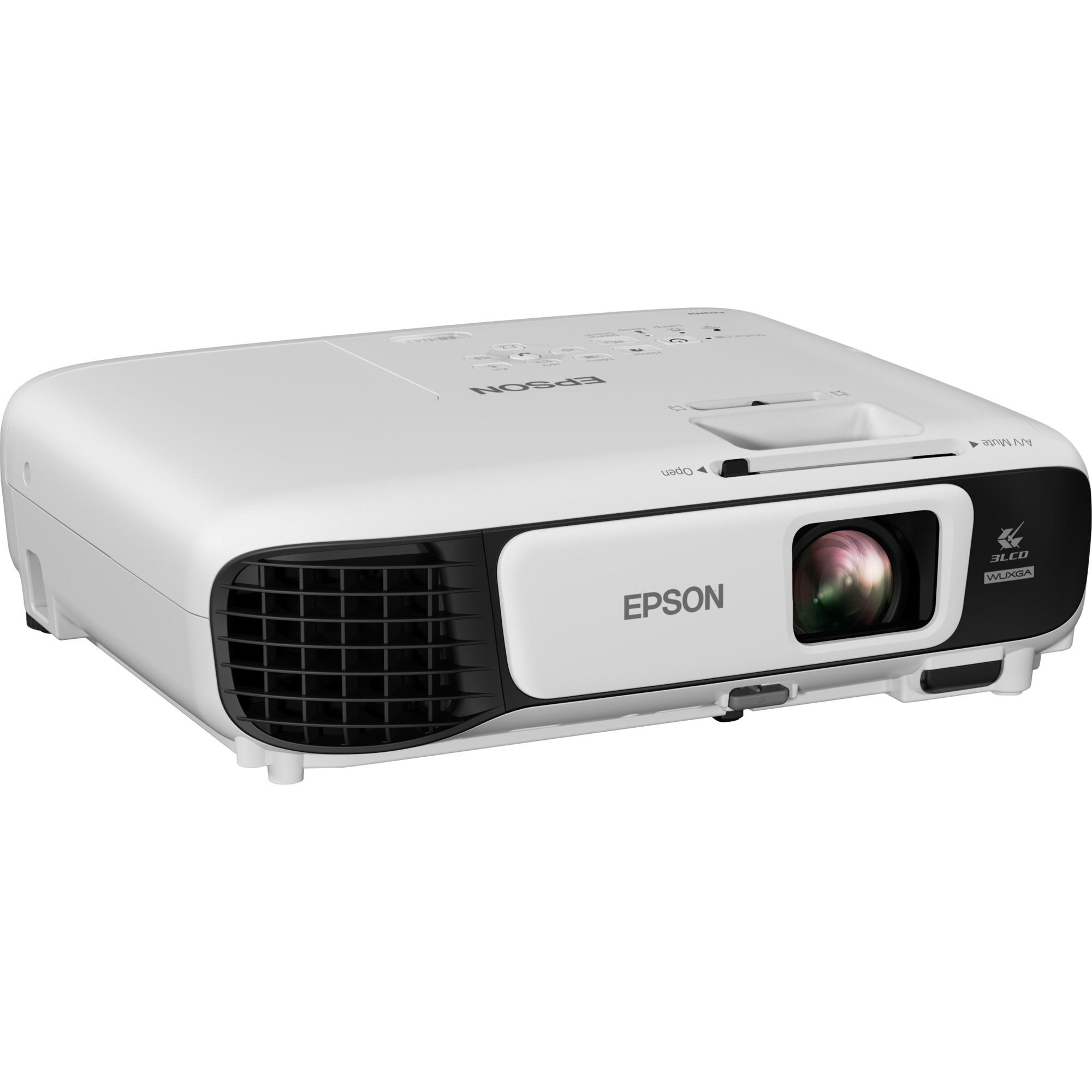 EB-U42 Vidéoprojecteur portable 3600ANSI lumens 3LCD 1080p (1920x1080) Noir, Blanc vidéo-projecteur, Projecteur LCD