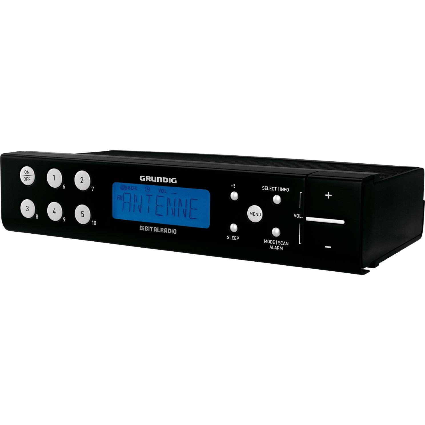 DKR 700 DAB+ Horloge Analogique et numérique Noir Radio portable