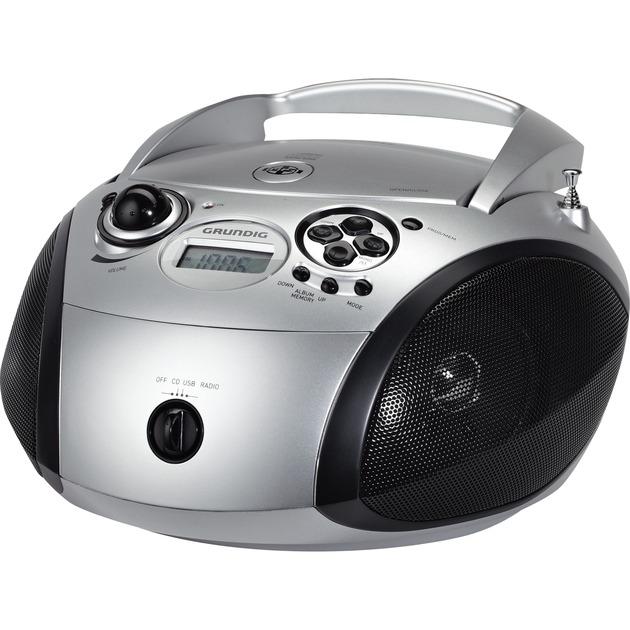 RCD 1445 USB Noir, Argent radio CD, Système compact