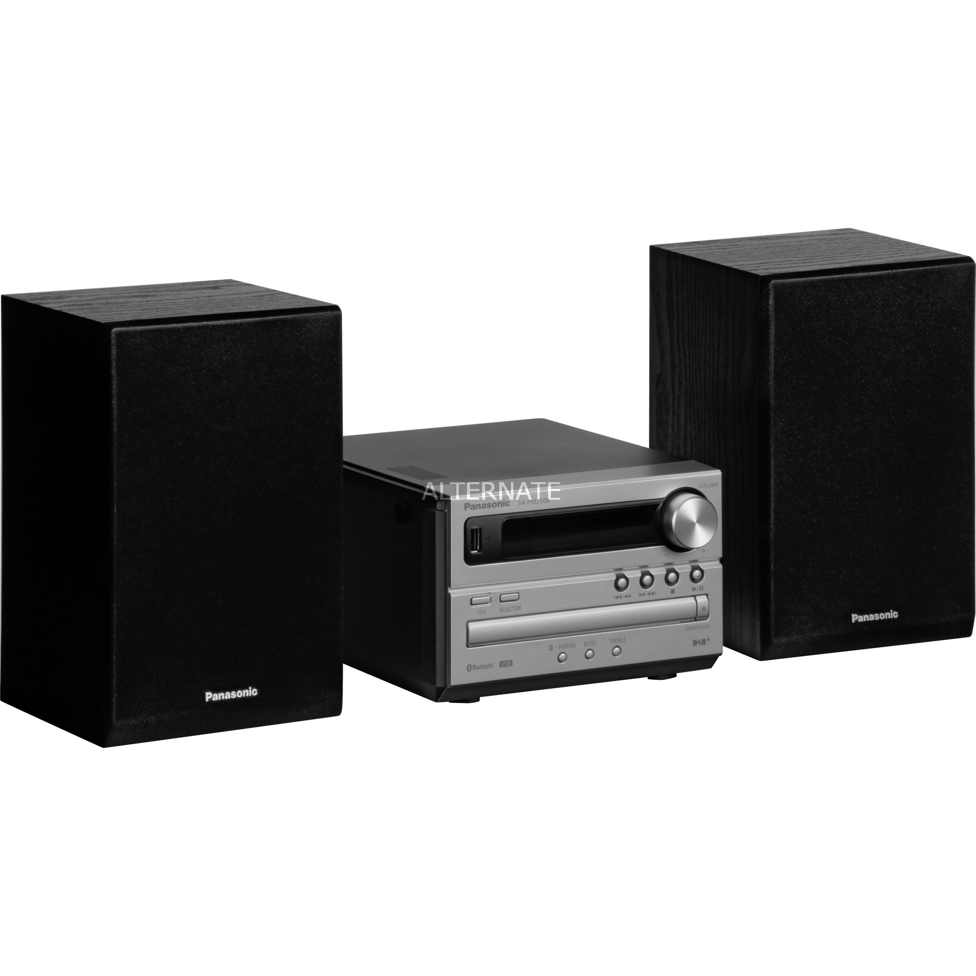 SC-PM250BEG Micro set Noir, Argent, Système compact