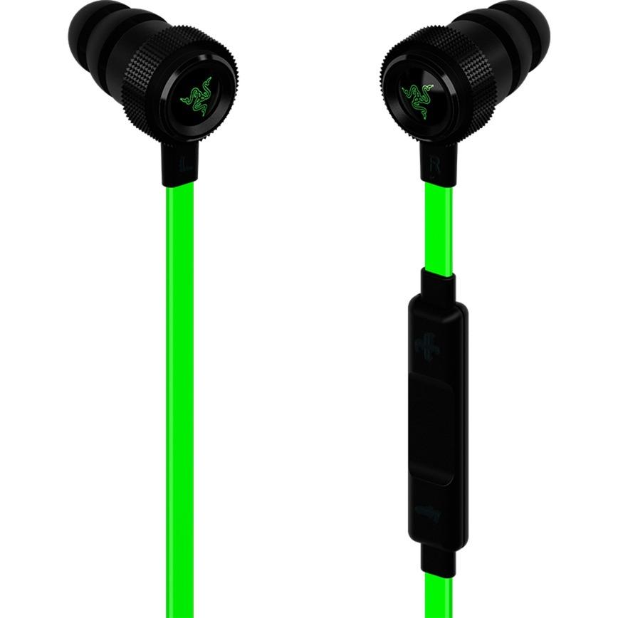 Hammerhead Pro V2 écouteur Binaural Avec fil Noir, Vert casque et micro, Casque d'écoute