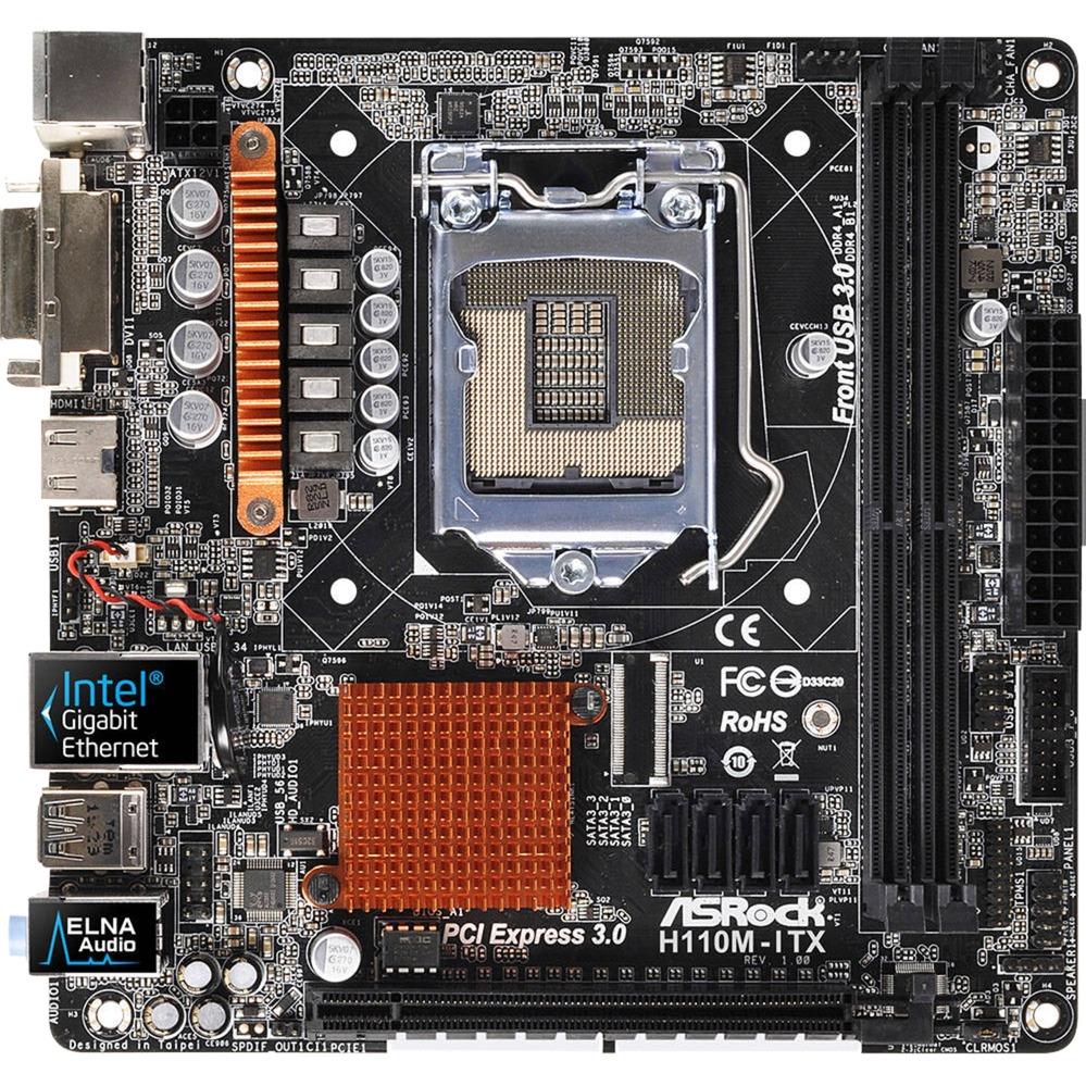 H110M-ITX, Carte mère