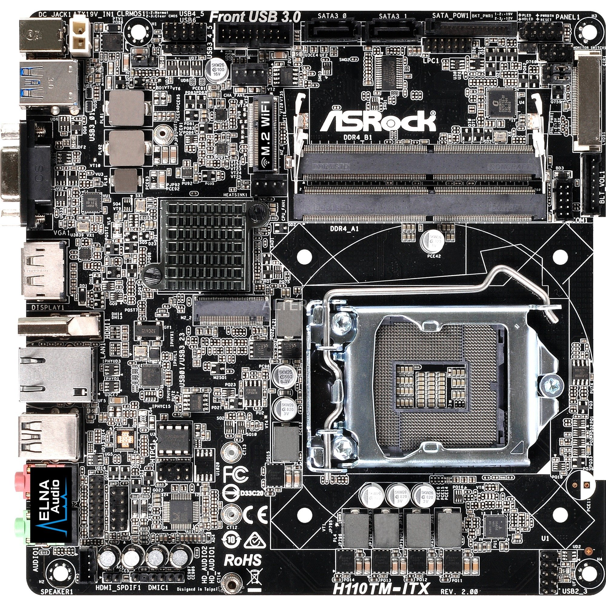 H110TM-ITX R2.0 Intel H110 LGA 1151 (Socket H4) Mini-ATX carte mère