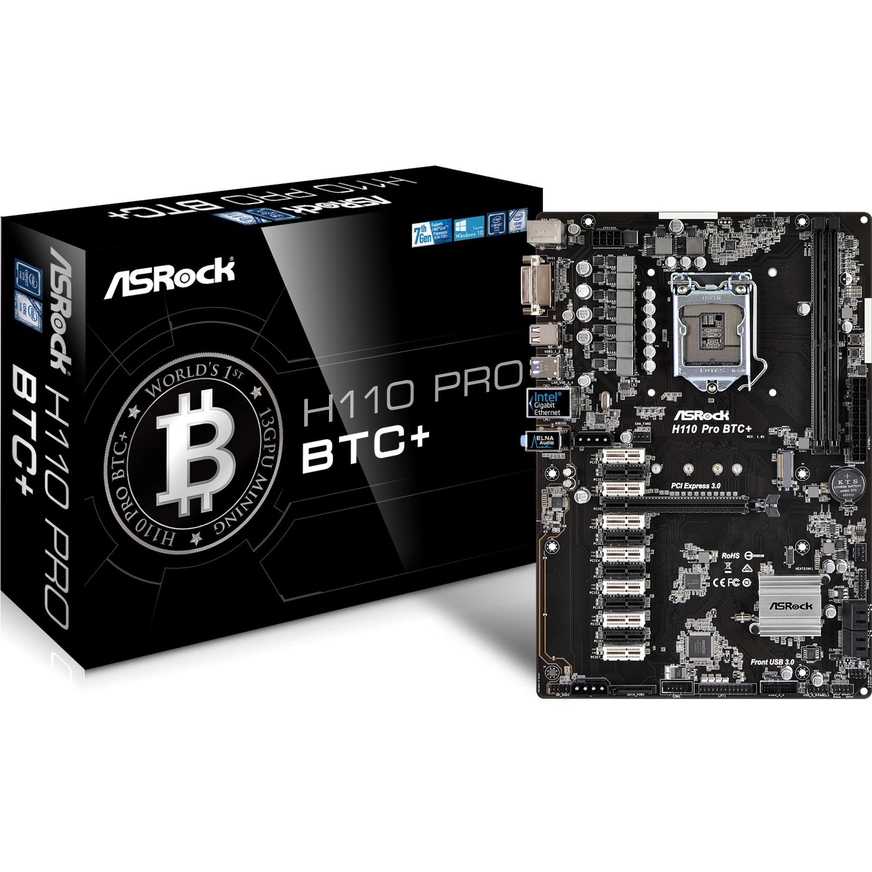 H110 Pro BTC+ Intel H110 LGA 1151 (Socket H4) ATX carte mère