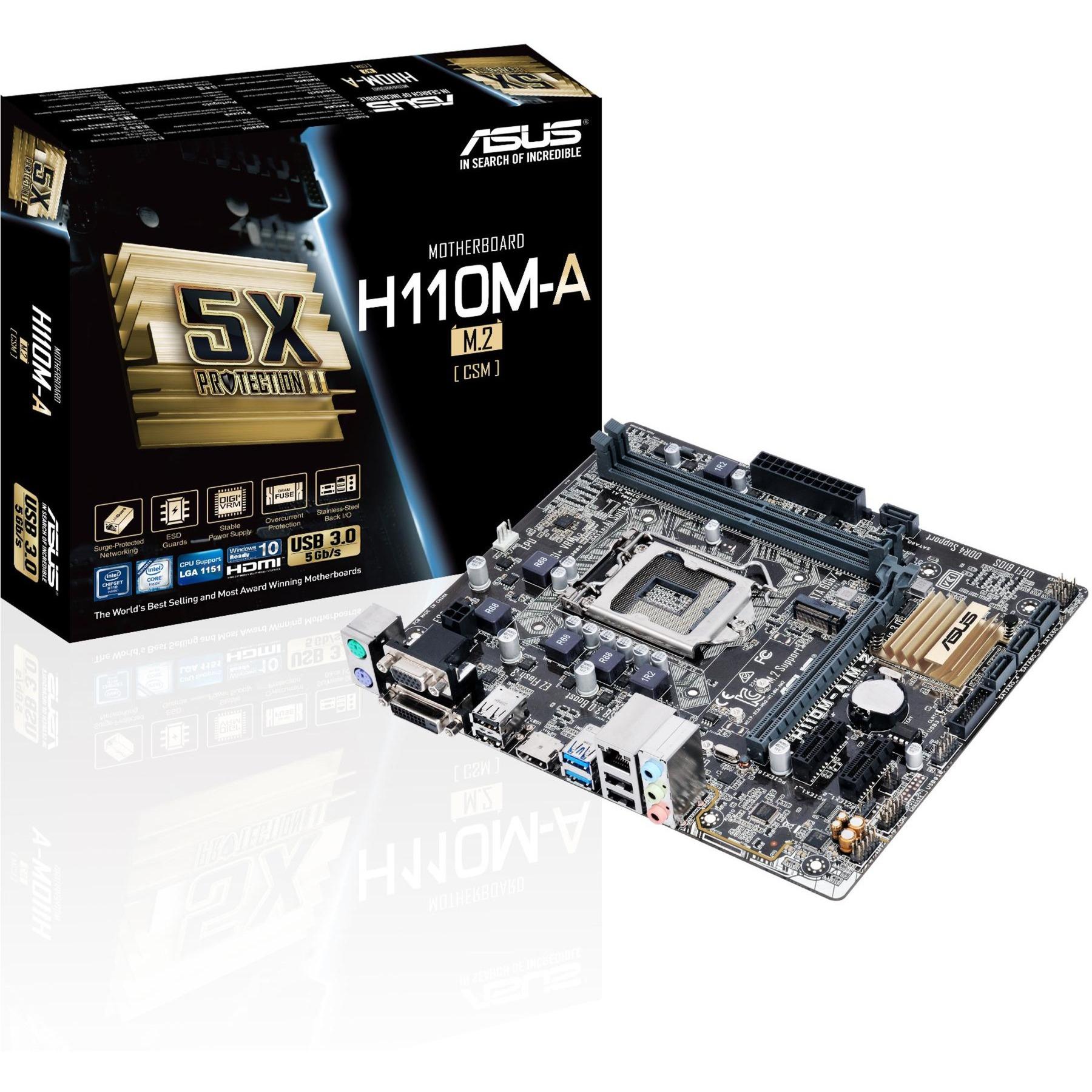 H110M-A/M.2/CSM Intel H110 LGA 1151 (Socket H4) microATX carte mère