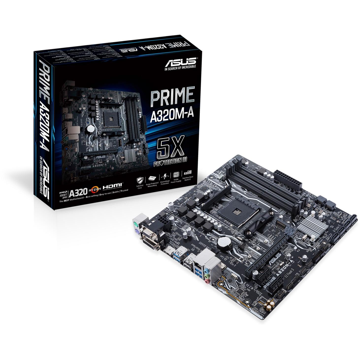 PRIME A320M-A AMD A320 Socket AM4 microATX carte mère