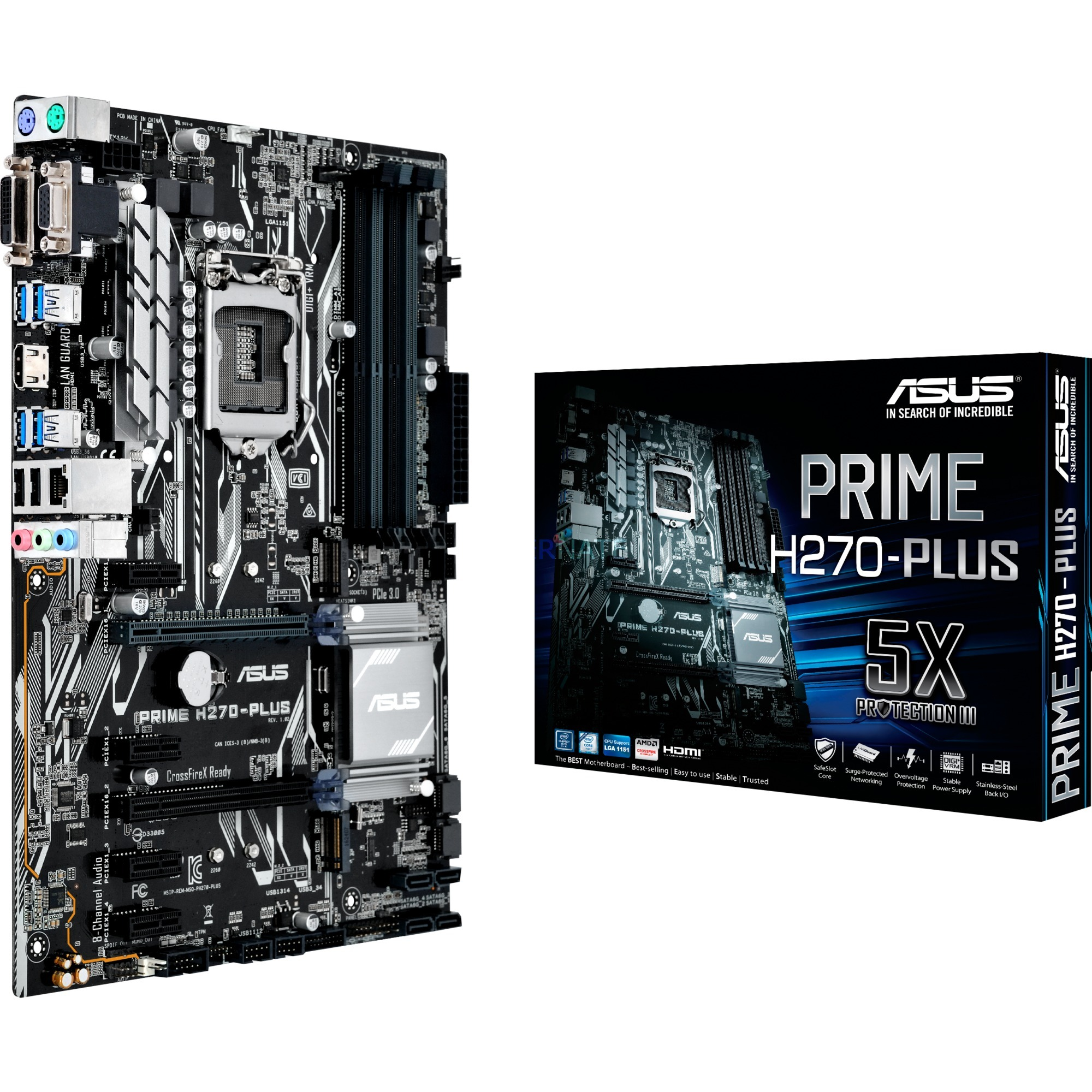 PRIME H270-PLUS Intel H270 LGA 1151 (Socket H4) ATX carte mère