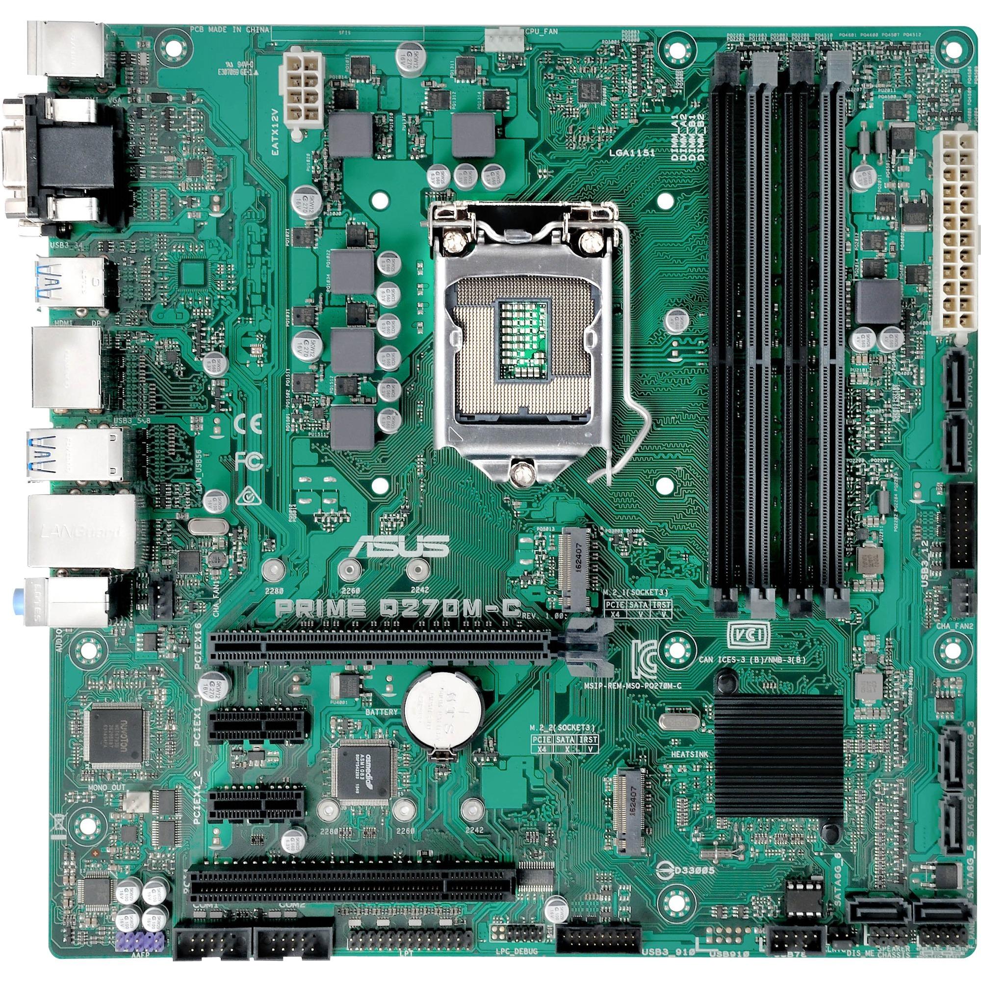 PRIME Q270M-C/CSM Intel Q270 microATX carte mère
