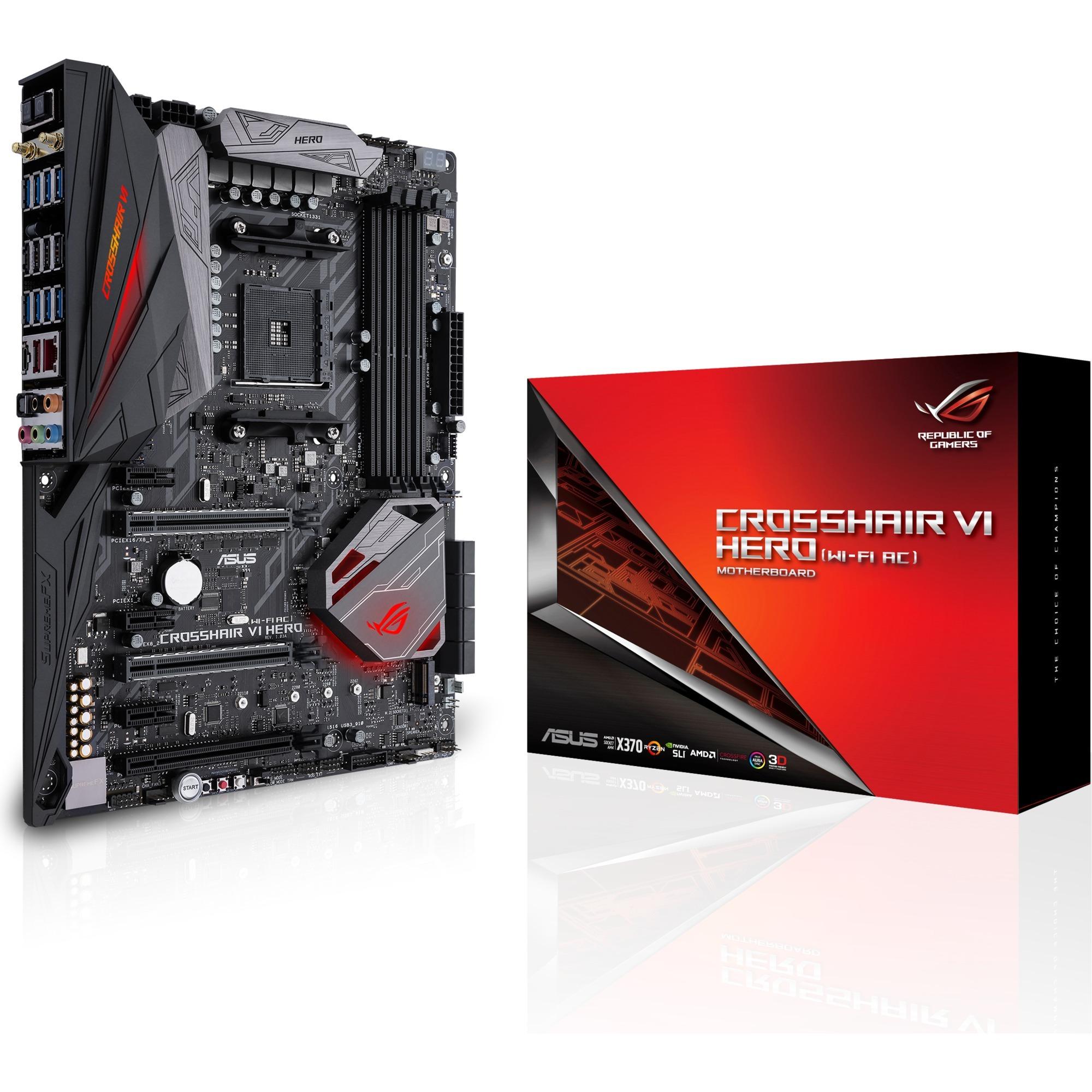 ROG CROSSHAIR VI HERO (WI-FI AC) AMD X370 Socket AM4 ATX carte mère