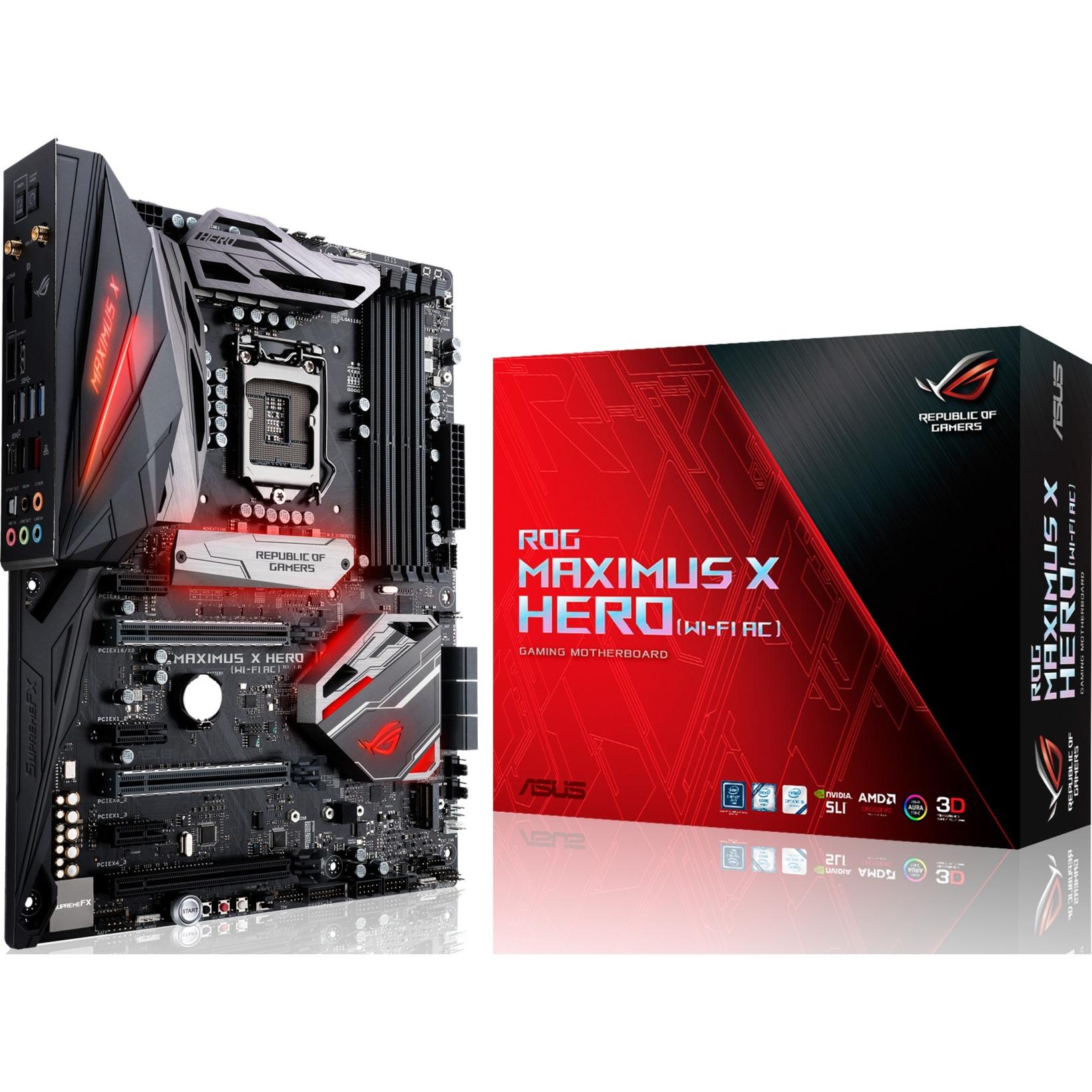 ROG MAXIMUS X HERO (WI-FI AC) LGA 1151 (Socket H4) ATX carte mère