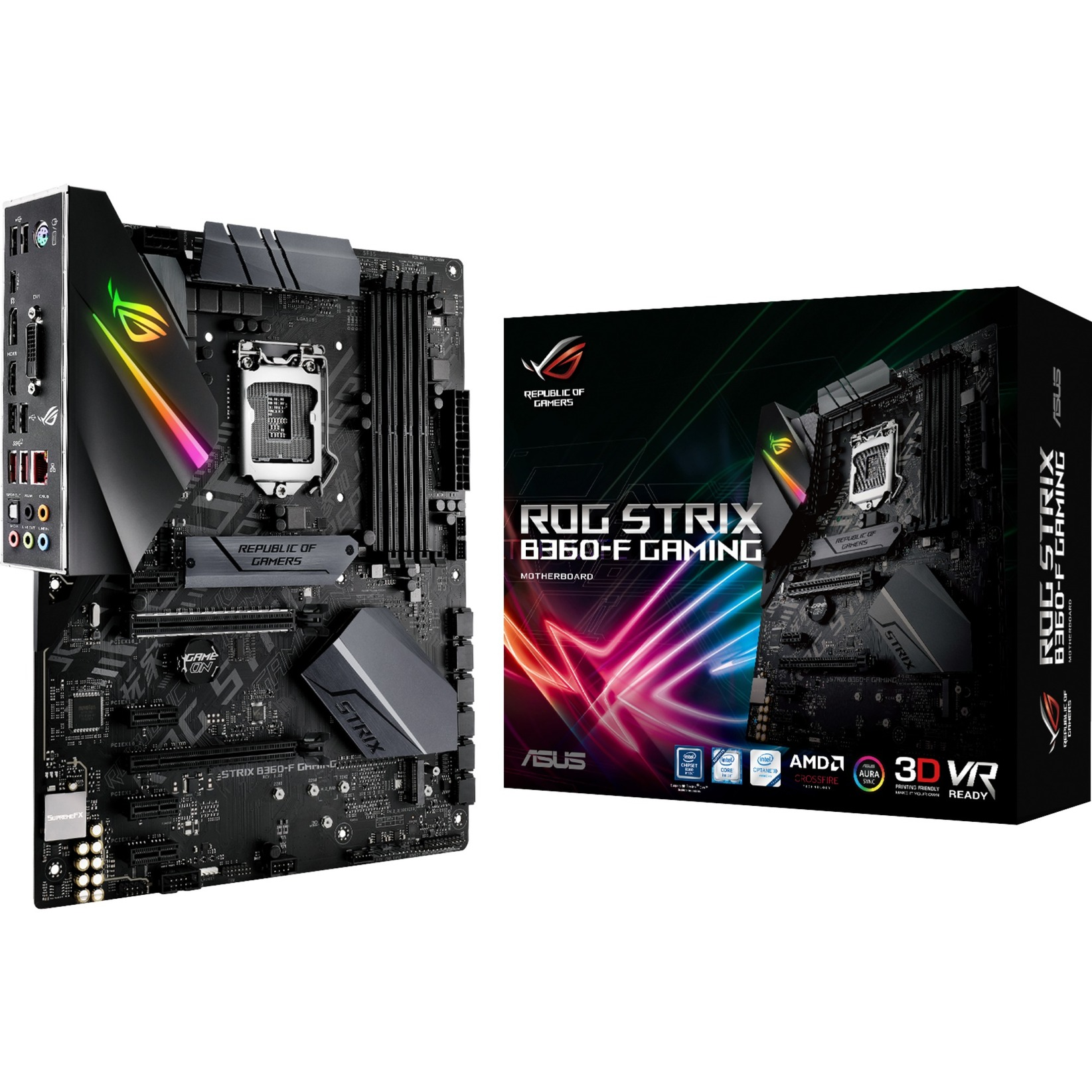 ROG STRIX B360-F GAMING, Carte mère