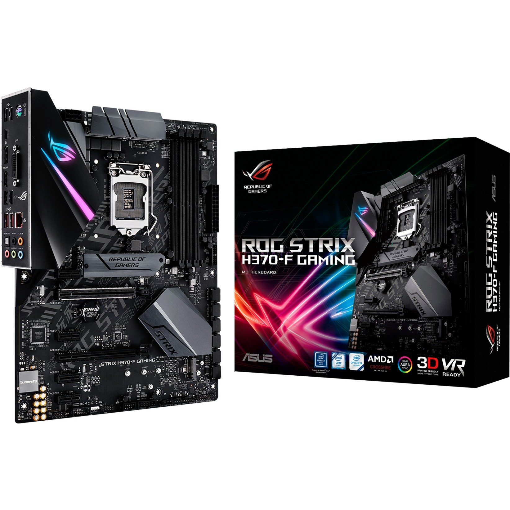 ROG STRIX H370-F GAMING, Carte mère