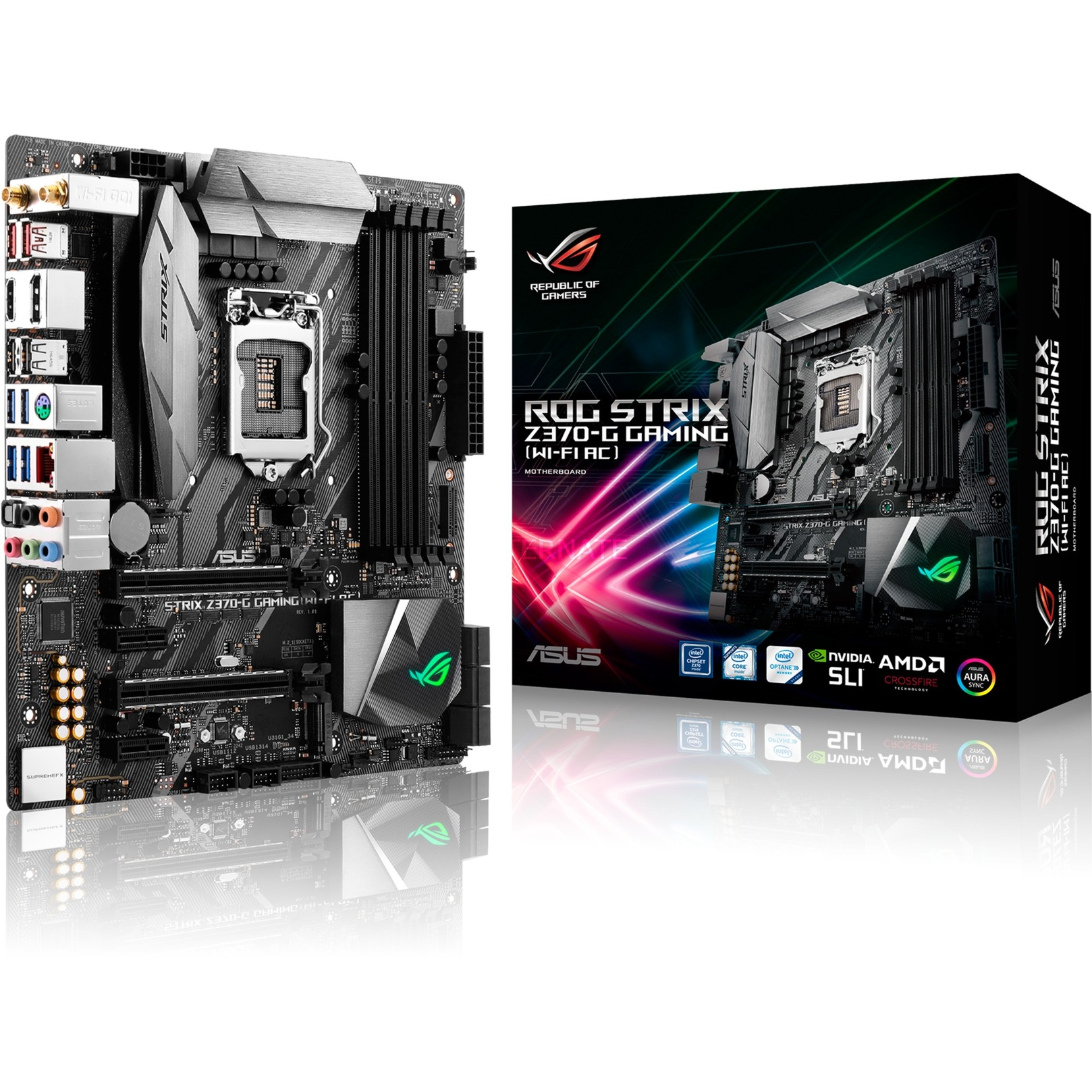 ROG STRIX Z370-G GAMING (WI-FI AC) LGA 1151 (Socket H4) microATX carte mère