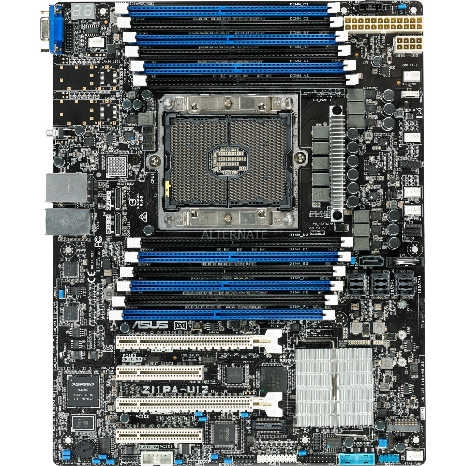 Z11PA-U12 Intel C621 ATX serveur/ station d'accueil carte mère