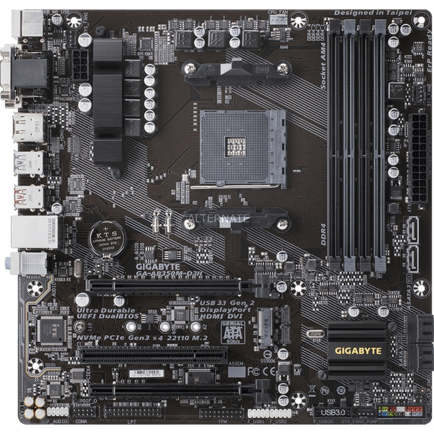 GA-AB350M-D3H AMD B350 Socket AM4 microATX carte mère