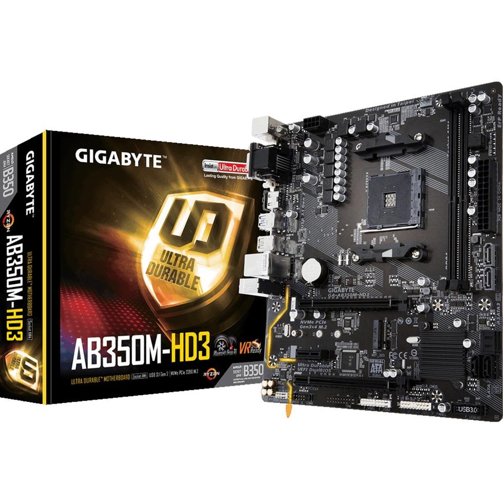 GA-AB350M-HD3 AMD B350 Socket AM4 microATX carte mère