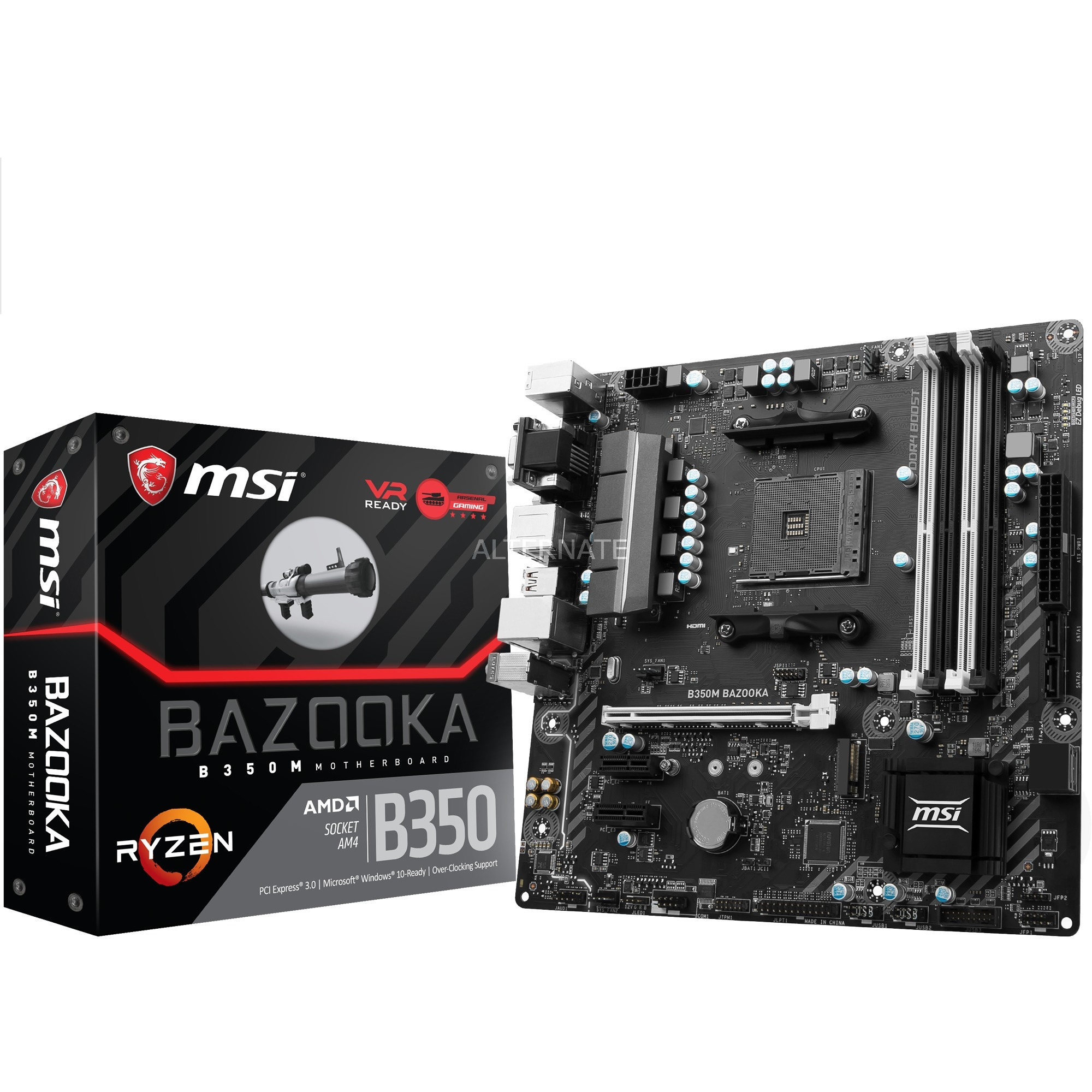 B350M BAZOOKA AMD B350 Socket AM4 microATX carte mère
