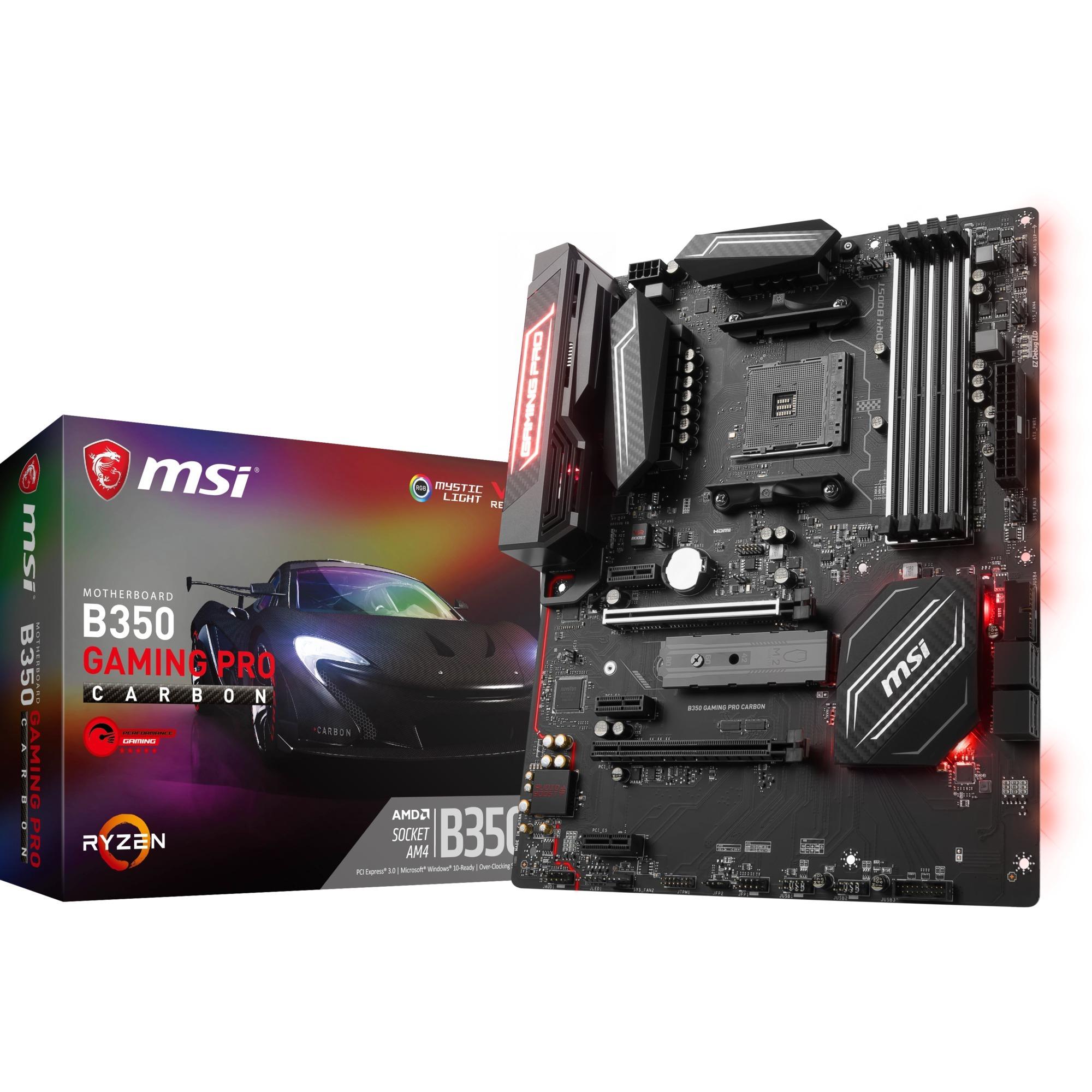 B350 GAMING PRO CARBON AMD B350 Socket AM4 ATX carte mère