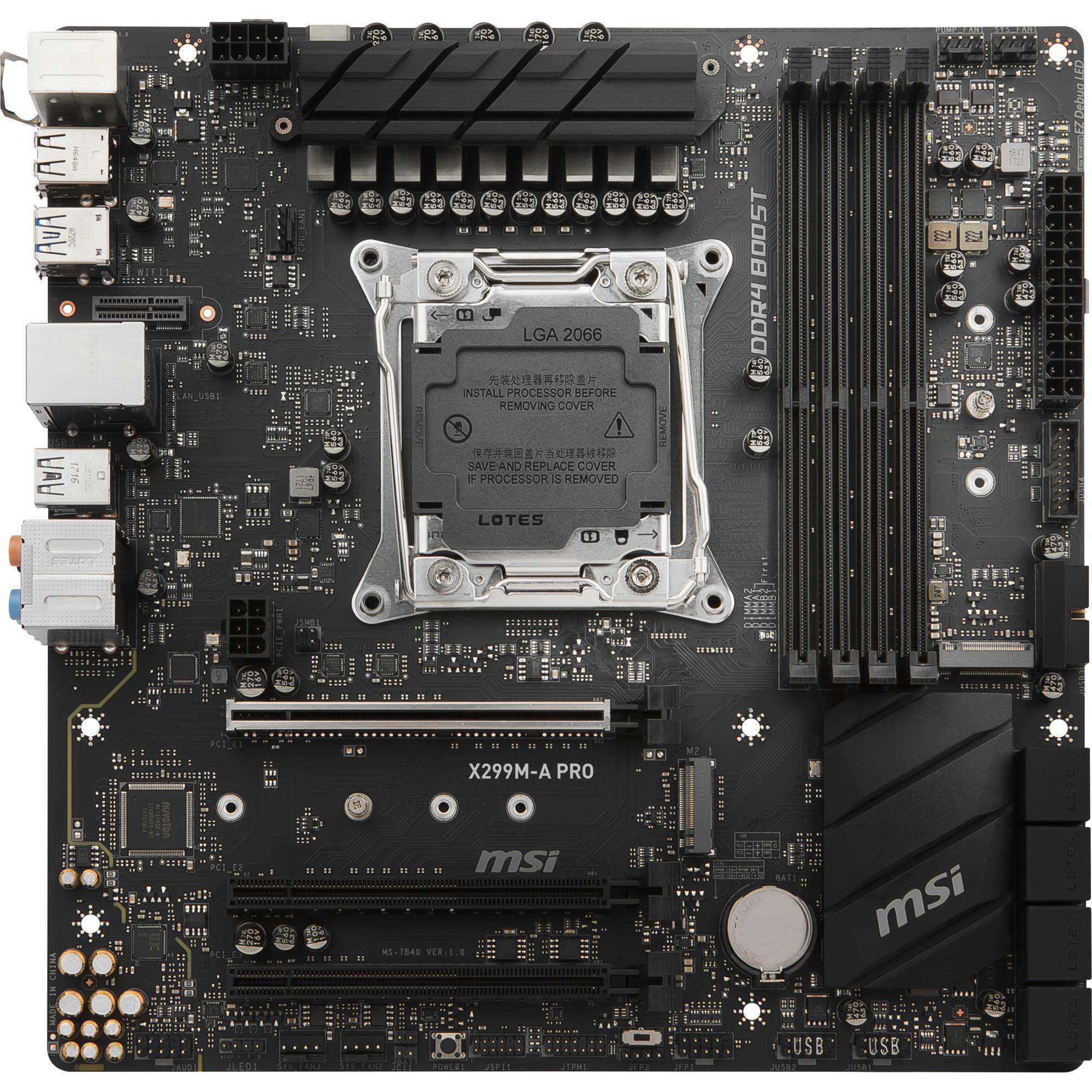 X299M-A Pro Intel X299 LGA 2066 Micro ATX carte mère