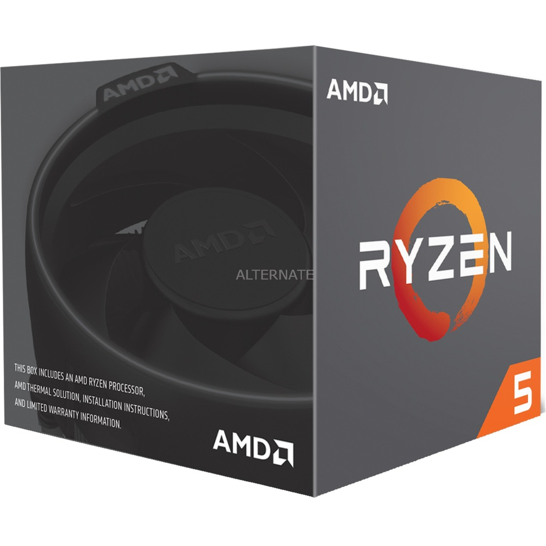 Ryzen 5 2600, 3,4 GHz (3,9 GHz Turbo Boost), Processeur