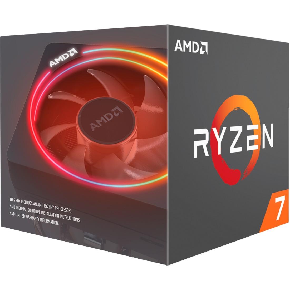 Ryzen 7 2700X, 3,7 GHz (4,35 GHz Turbo Boost), Processeur