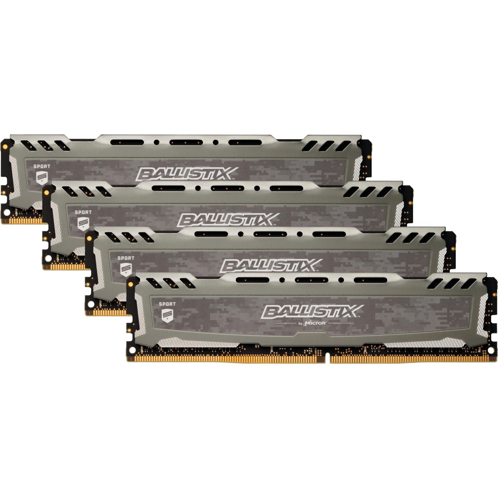 Ballistix Sport LT 32 Go (4 x 8 Go) DDR4 2400 MHz CL16 DR, Mémoire