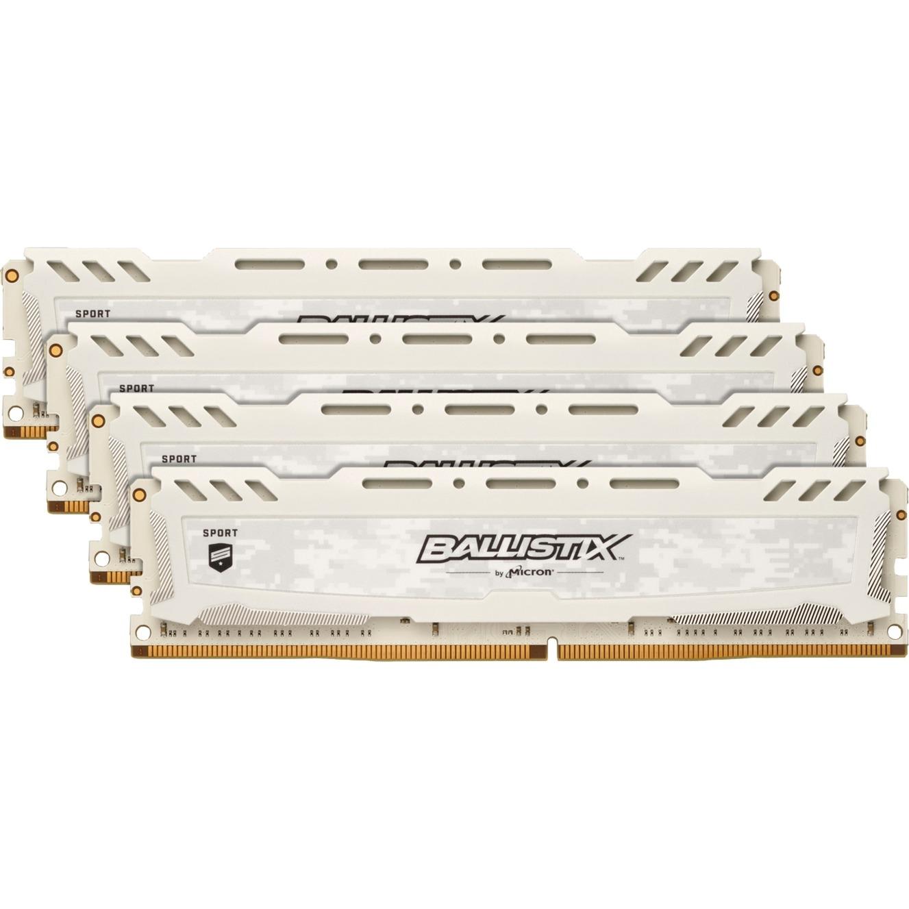 Ballistix Sport LT White 16 Go (2 x 8 Go) DDR4 2400 MHz CL16 DR, Mémoire