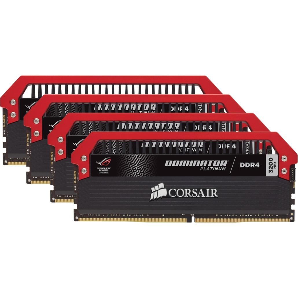 Dominator Platinum ROG 32 Go (4x 8 Go) DDR4 3200 MHz CL16, Mémoire