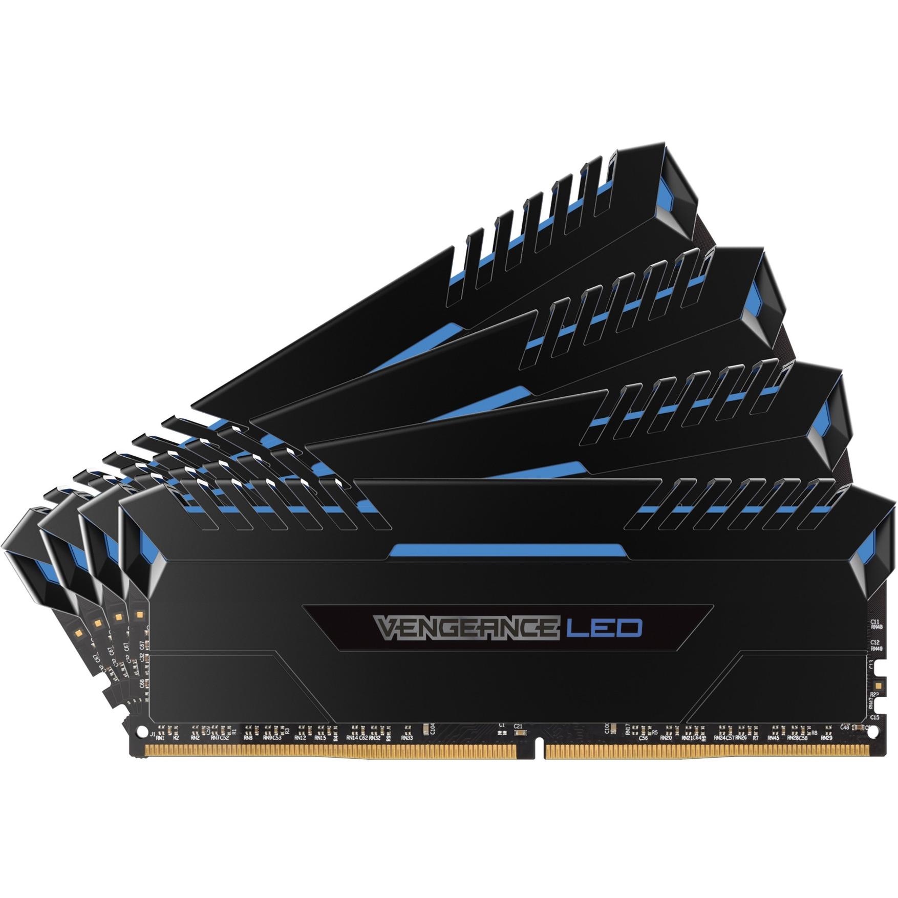 Vengeance LED 64GB (4 x 16GB) DDR4 DRAM 2666MHz C16 64Go DDR4 2666MHz module de mémoire