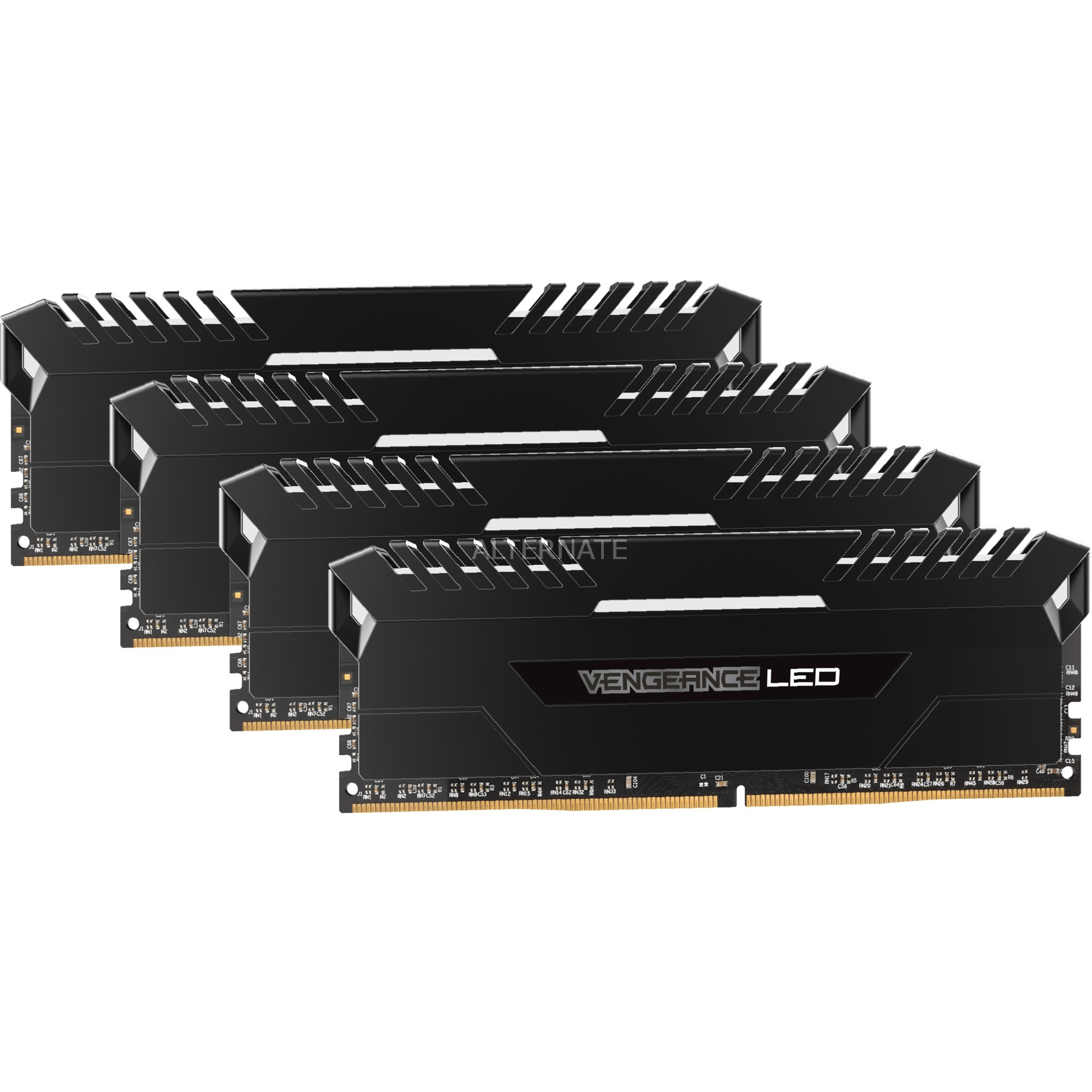 Vengeance LED Series 32 Go (4x 8 Go) DDR4 3000 MHz CL15, Mémoire